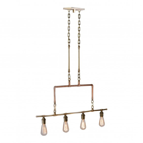 COPPER & BRASS CHANDELIER