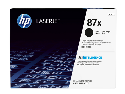 HP 87X (CF287X) High Yield Black Original LaserJet Toner Cartridge (18000 Yield)