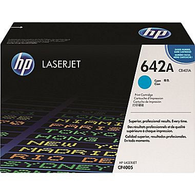 HP 642A (CB401A) Cyan Original LaserJet Toner Cartridge (7500 Yield)