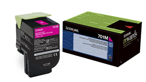 Lexmark (701M) Magenta Return Program Toner Cartridge (1000 Yield)