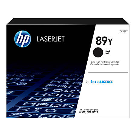 HP HP 89Y (CF289Y) Extra High Yield Black LaserJet Toner Cartridge (20000 Yield)