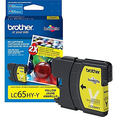 Brother LC65HYYS High-Yield Yellow Ink Cartridge