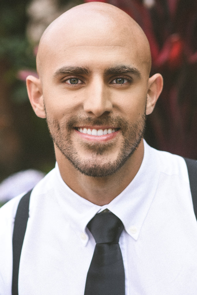 smiling man with clear skin