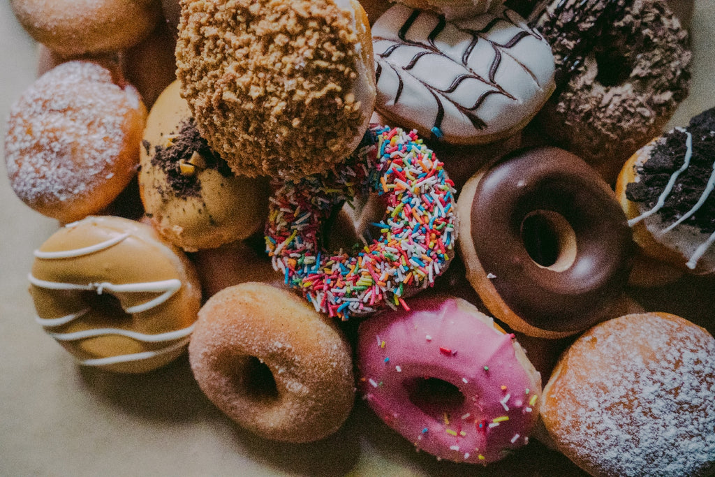 variety of assorted donuts
