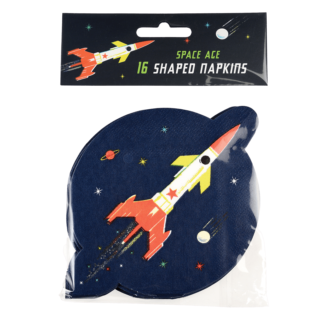 Space Age Napkins (pack Of 16) - Meli & Ro | Kids Activity Packs