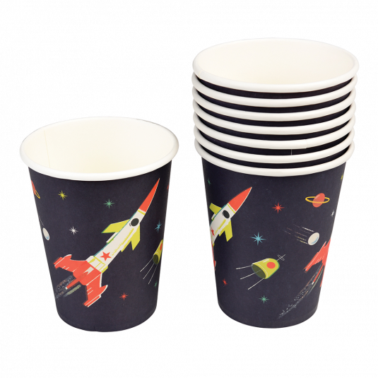 Space Age Paper Cups (set Of 8) - Meli & Ro | Kids Activity Packs