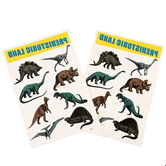 Prehistoric Land Temporary Tattoos (2 Sheets) - Meli & Ro | Kids Activity Packs