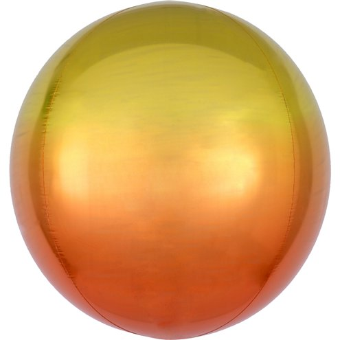 "Ombre Yellow & Orange Orbz Balloon - 16"" Foil - Meli & Ro 