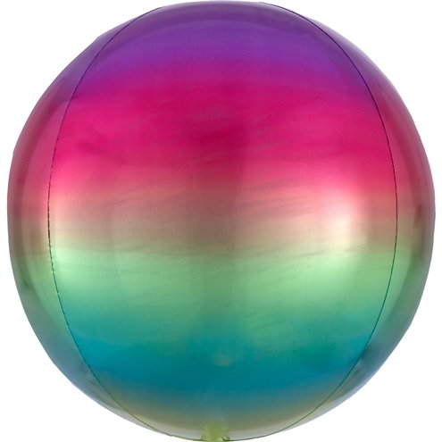 "Ombre Rainbow Orbz Balloon - 16"" Foil - Meli & Ro 