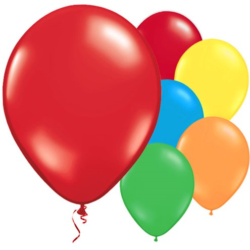 "10 x Multi-coloured Balloons - 11"" Metallic Latex - Meli & Ro 