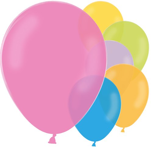 "10 x Pastel Mix Latex Balloons - 12"" - Meli & Ro 
