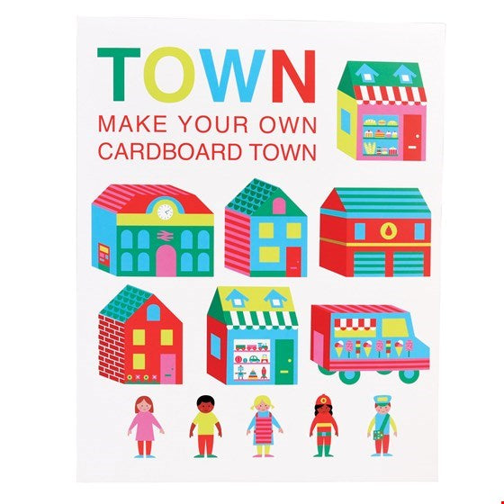 Make Your Own Cardboard Town Activity Pack - Meli & Ro | Kids Activity Packs