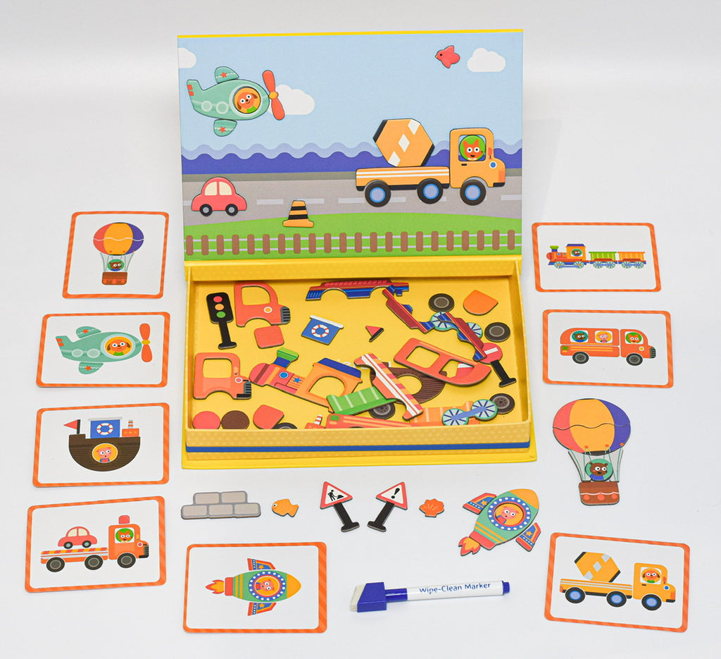 Children's Magnetic Art Case - Vehicle Activity Set - Meli & Ro | Kids Activity Packs