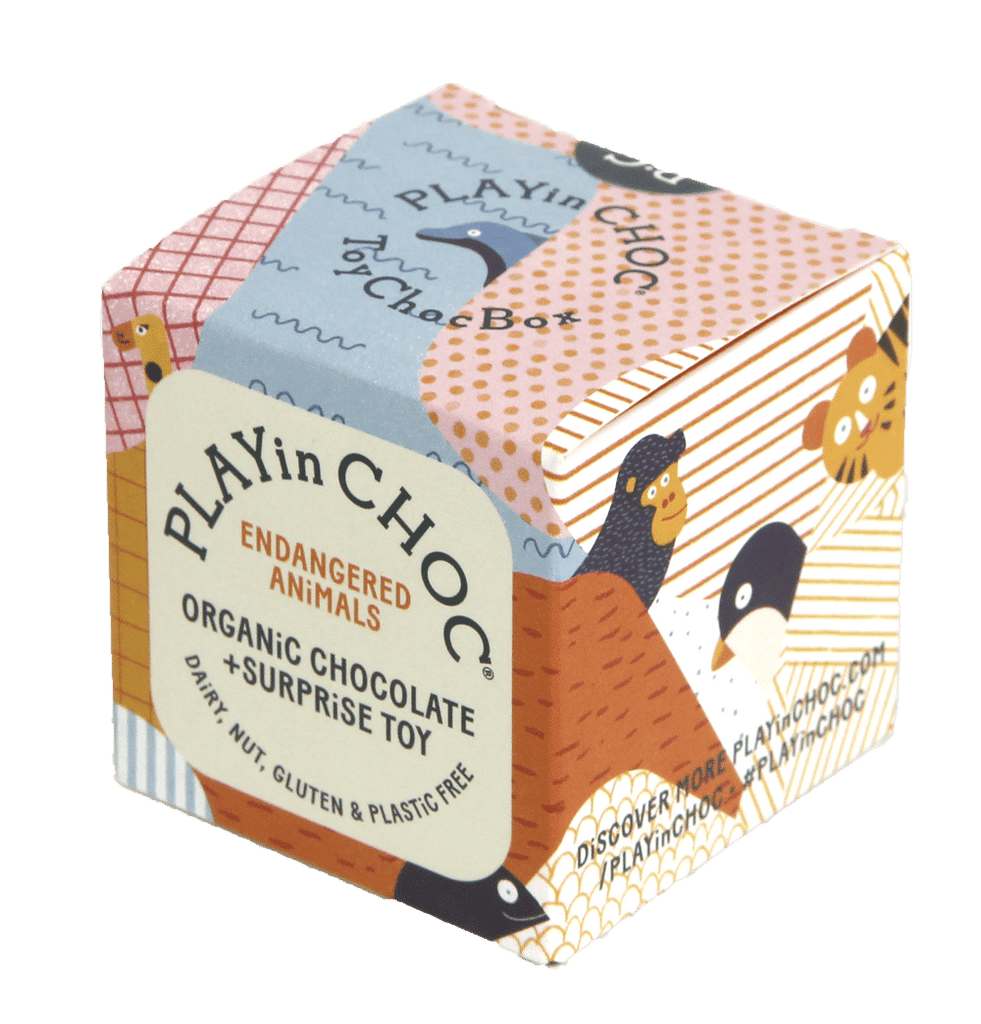 PLAYin CHOC ToyChoc Box ENDANGERED ANiMALS - Meli & Ro | Kids Activity Packs