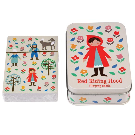 Little Red Riding Hood Playing Cards In Tin - Meli & Ro | Kids Activity Packs
