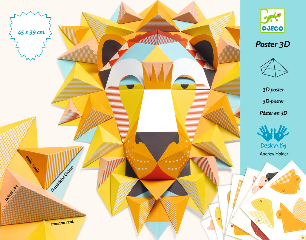 Djeco 3D Poster - The King - Meli & Ro | Kids Activity Packs