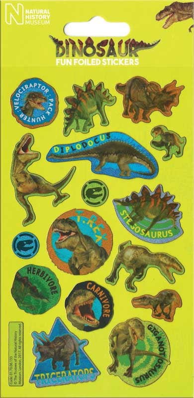 Natural History Dinosaur Stickers activity - Meli & Ro | Kids Activity Packs