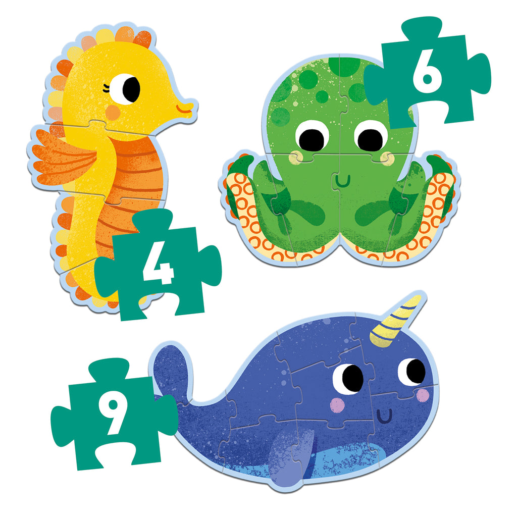 Djeco Primo Puzzle - In The Sea - Meli & Ro | Kids Activity Packs