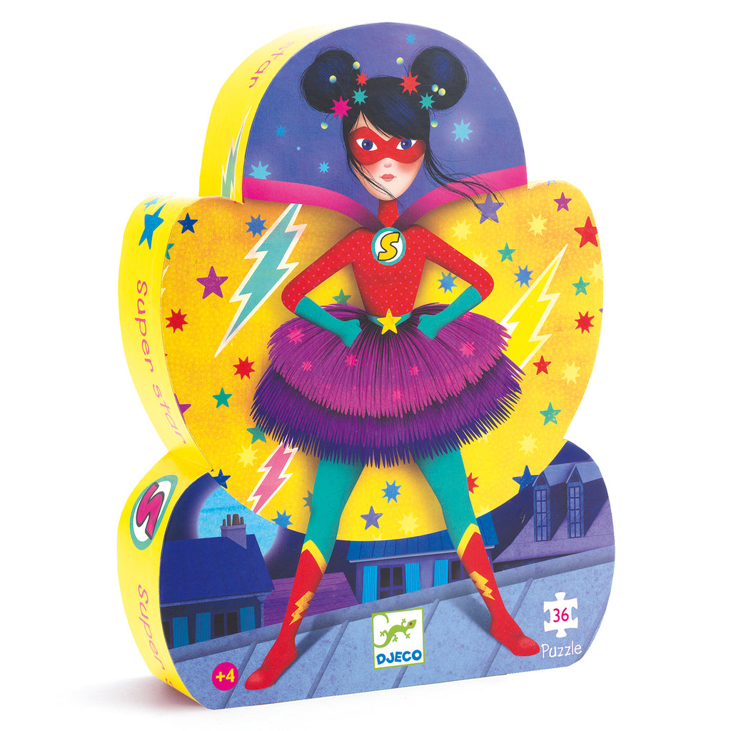 Djeco Puzzle - Super Star - Meli & Ro | Kids Activity Packs