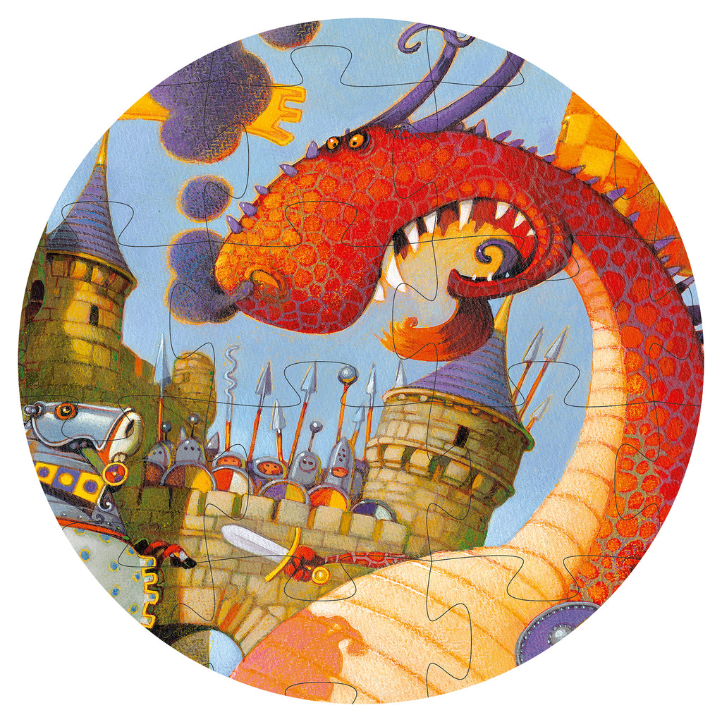 Djeco Puzzle - Valiant And The Dragons - Meli & Ro | Kids Activity Packs