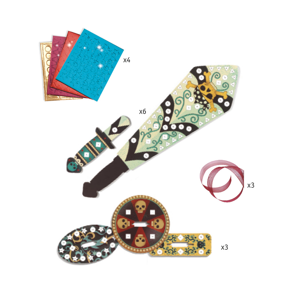 Djeco Mosaics - Sabers To Decorate - Meli & Ro | Kids Activity Packs