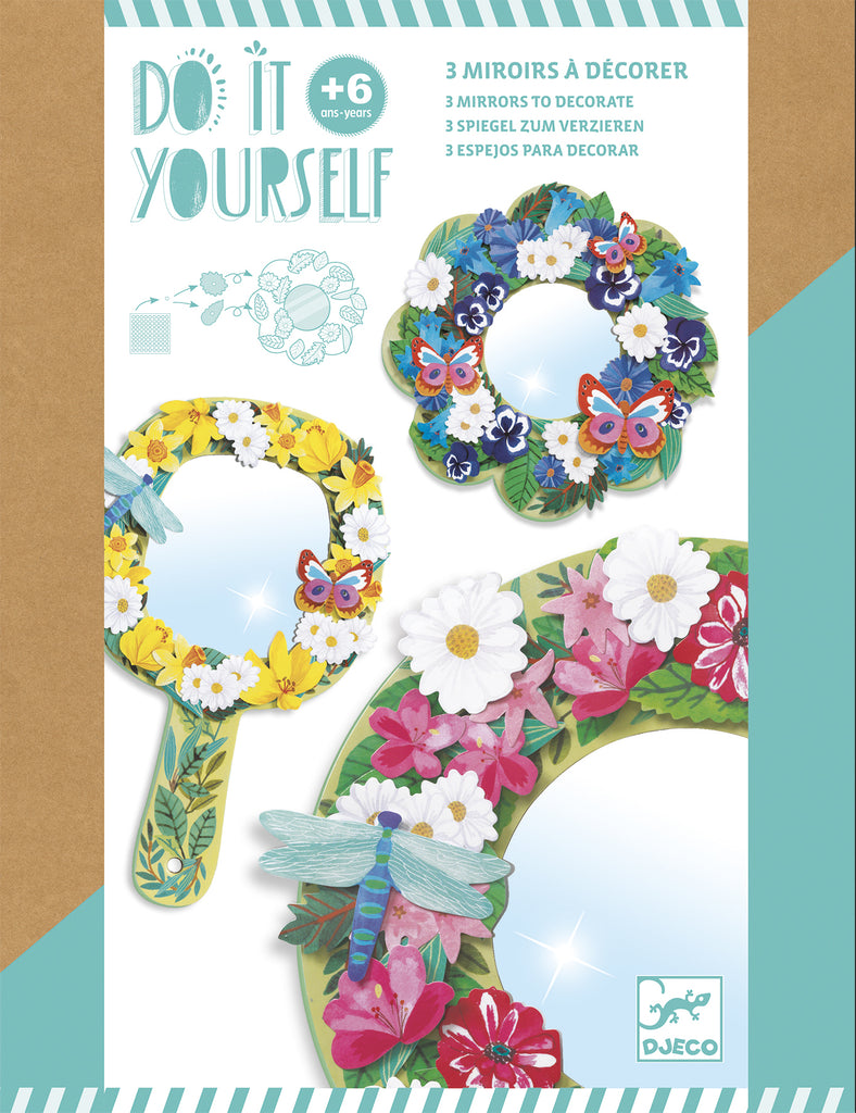 Djeco DIY Mirrors To Decorate - Meli & Ro | Kids Activity Packs