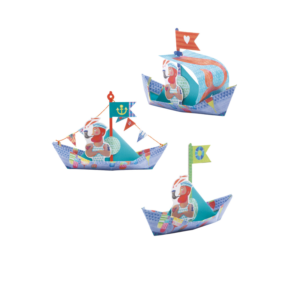 Djeco - Origami Floating boats - Meli & Ro | Kids Activity Packs