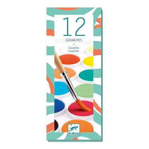 Djeco 12 Paint Cakes - Meli & Ro | Kids Activity Packs