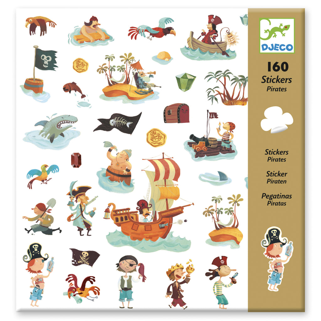 Djeco 160 Stickers - Pirates - Meli & Ro | Kids Activity Packs