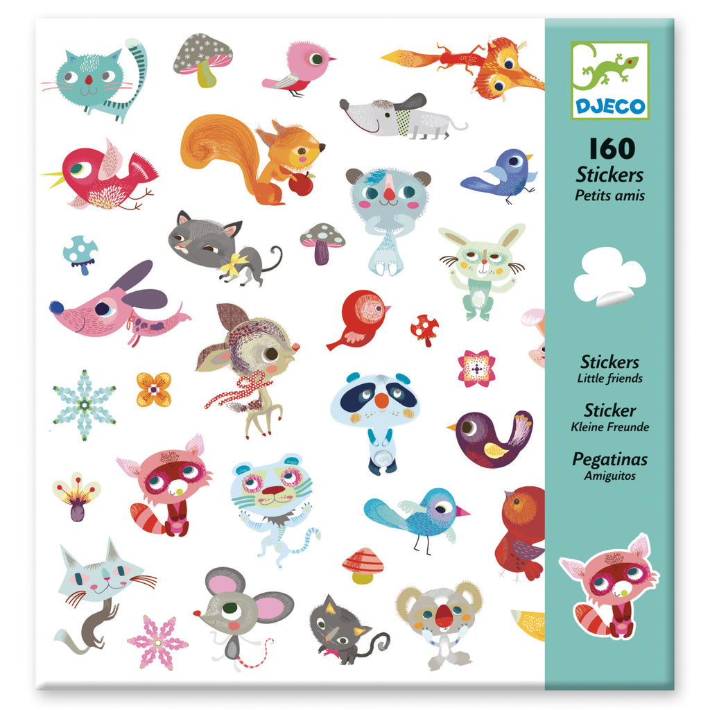 Djeco 160 Stickers - Little Friends - Meli & Ro | Kids Activity Packs