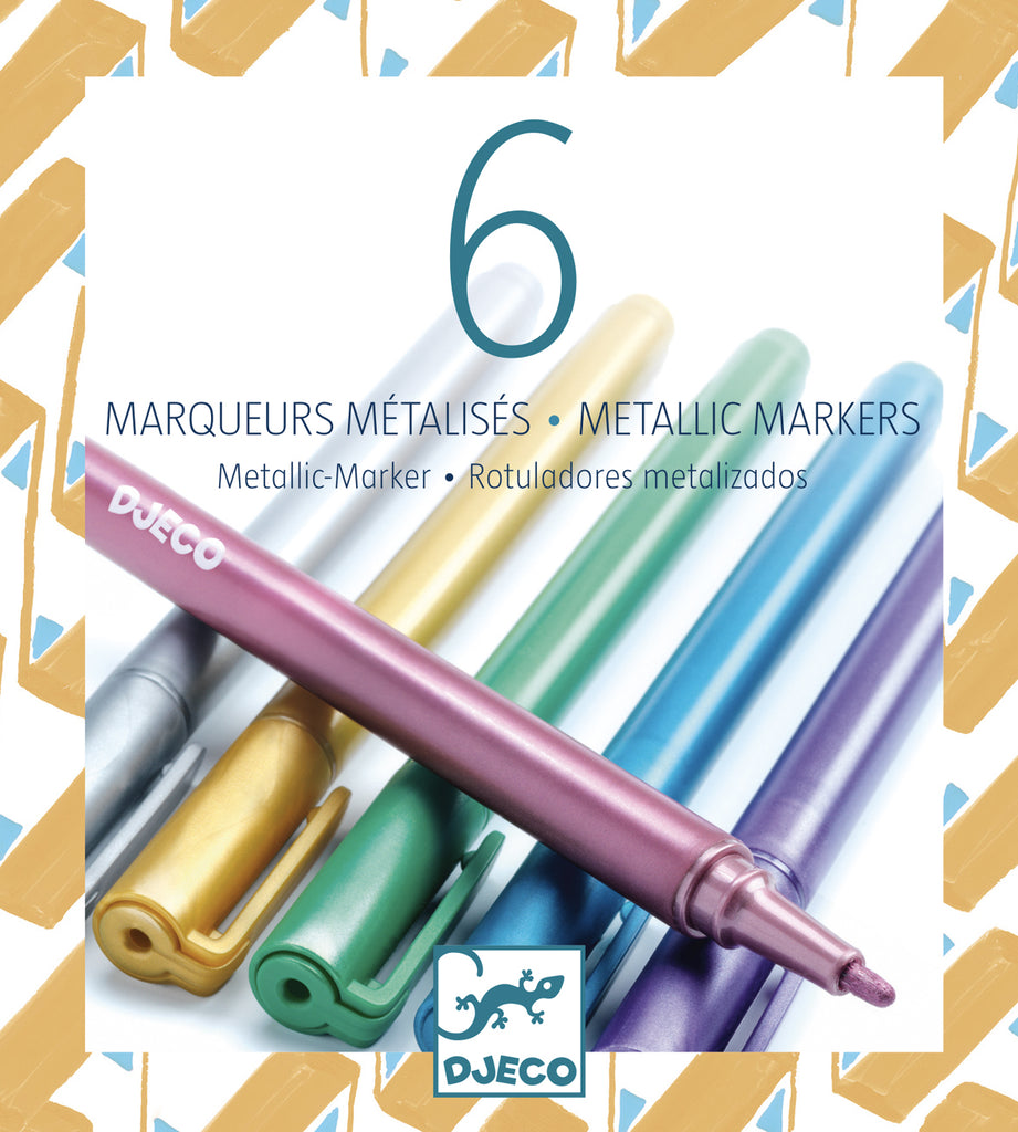 Djeco Metallic Markers - Meli & Ro | Kids Activity Packs