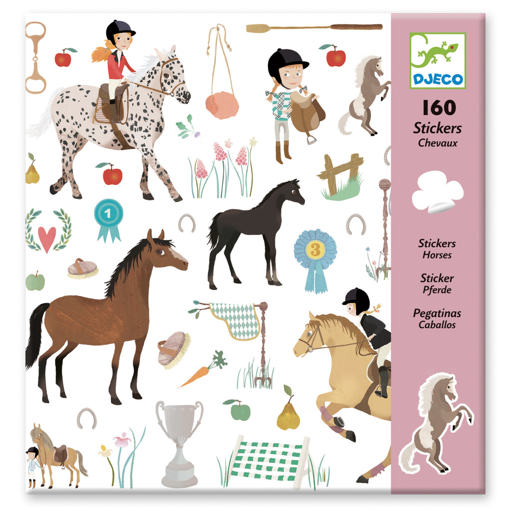 Djeco 160 Stickers - Horses - Meli & Ro | Kids Activity Packs