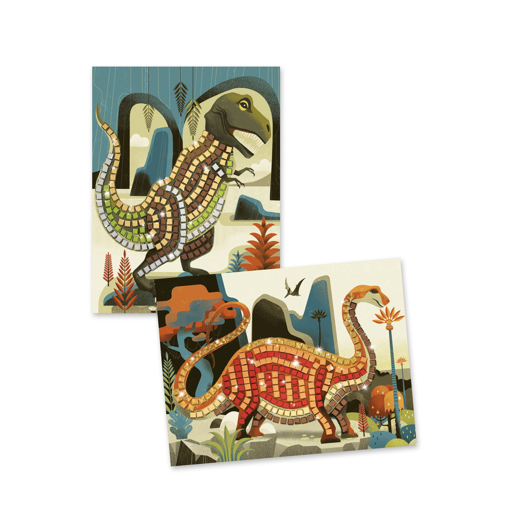 Djeco Mosaics - Dinosaurs - Meli & Ro | Kids Activity Packs