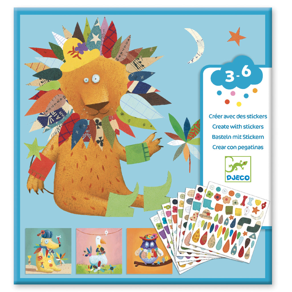 Djeco Stickers - Animals - Meli & Ro | Kids Activity Packs