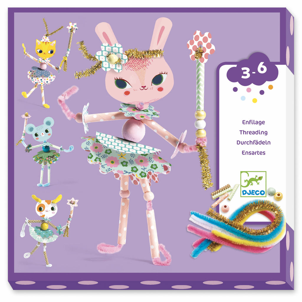 Djeco - My Fairies Threading - Meli & Ro | Kids Activity Packs