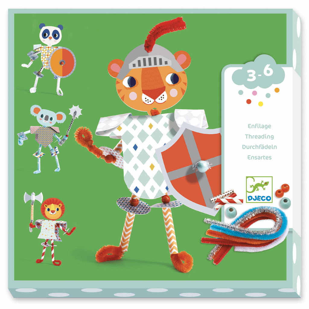 Djeco - My Knights Threading - Meli & Ro | Kids Activity Packs
