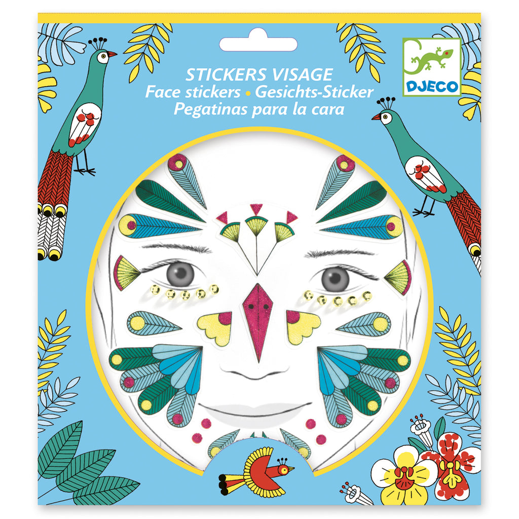 Djeco Face Stickers - Bird - Meli & Ro | Kids Activity Packs
