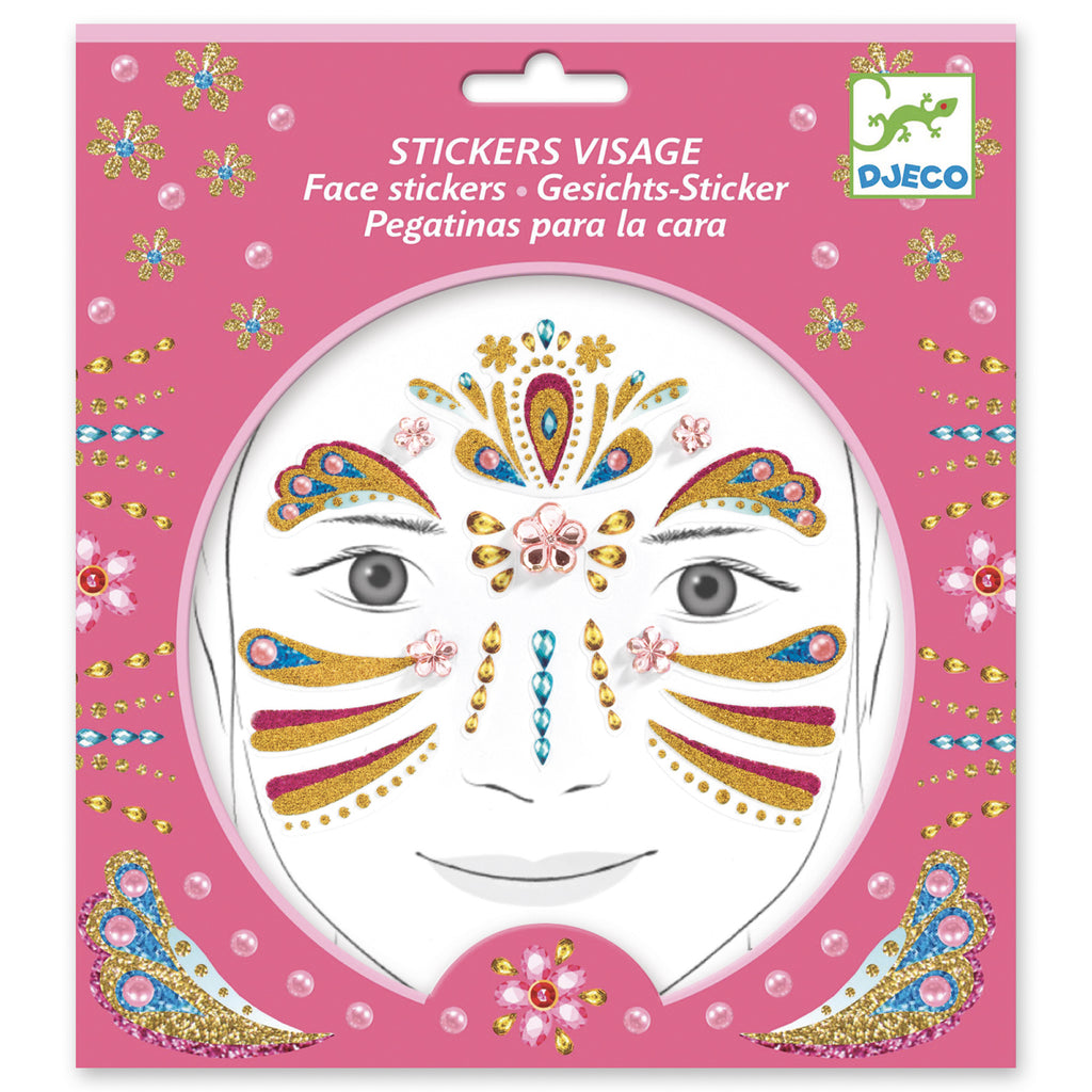 Djeco Face Stickers - Princess - Meli & Ro | Kids Activity Packs