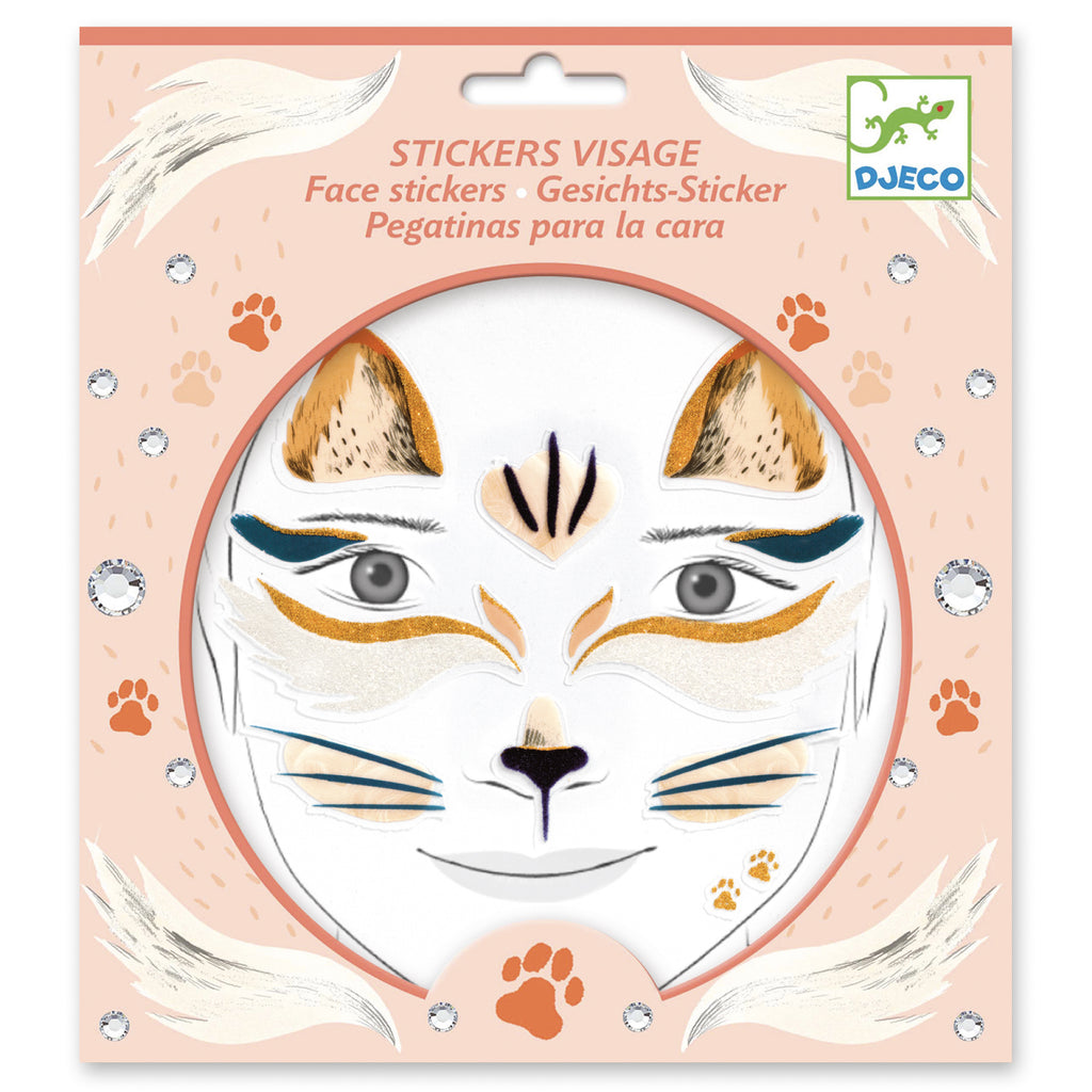 Djeco Face Stickers - Cat - Meli & Ro | Kids Activity Packs