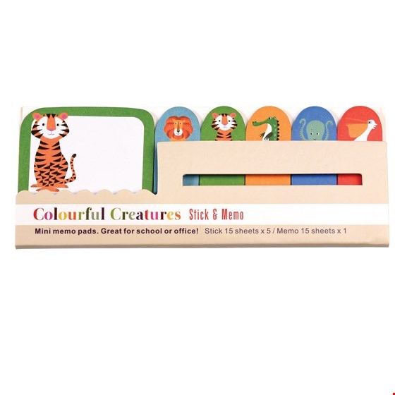 Colourful Creatures Mini Memo Pads - Meli & Ro | Kids Activity Packs