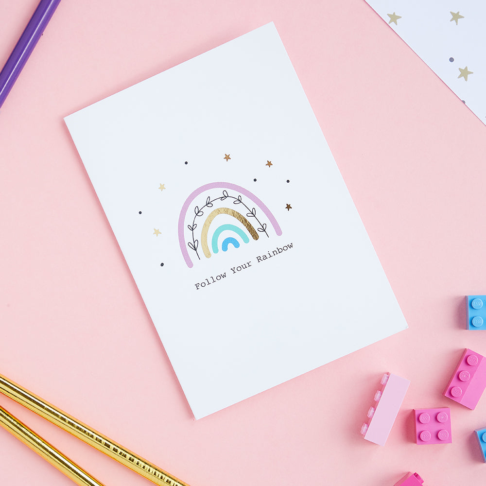 Lets Chase Rainbows Card - Meli & Ro | Kids Activity Packs