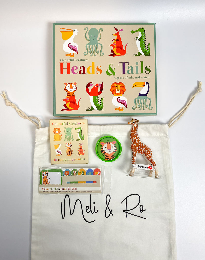 Heads and Tails Bag - Meli & Ro | Kids Activity Packs