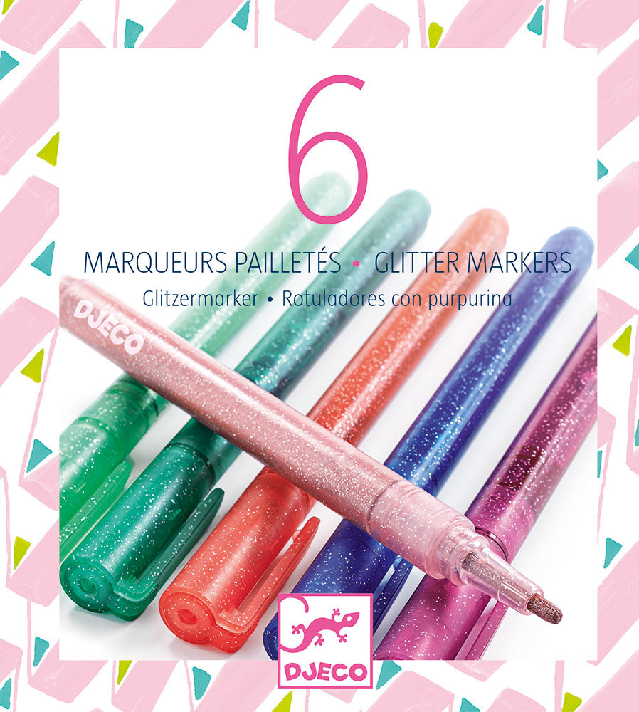 Djeco Glitter Markers - Sweet Colours - Meli & Ro | Kids Activity Packs