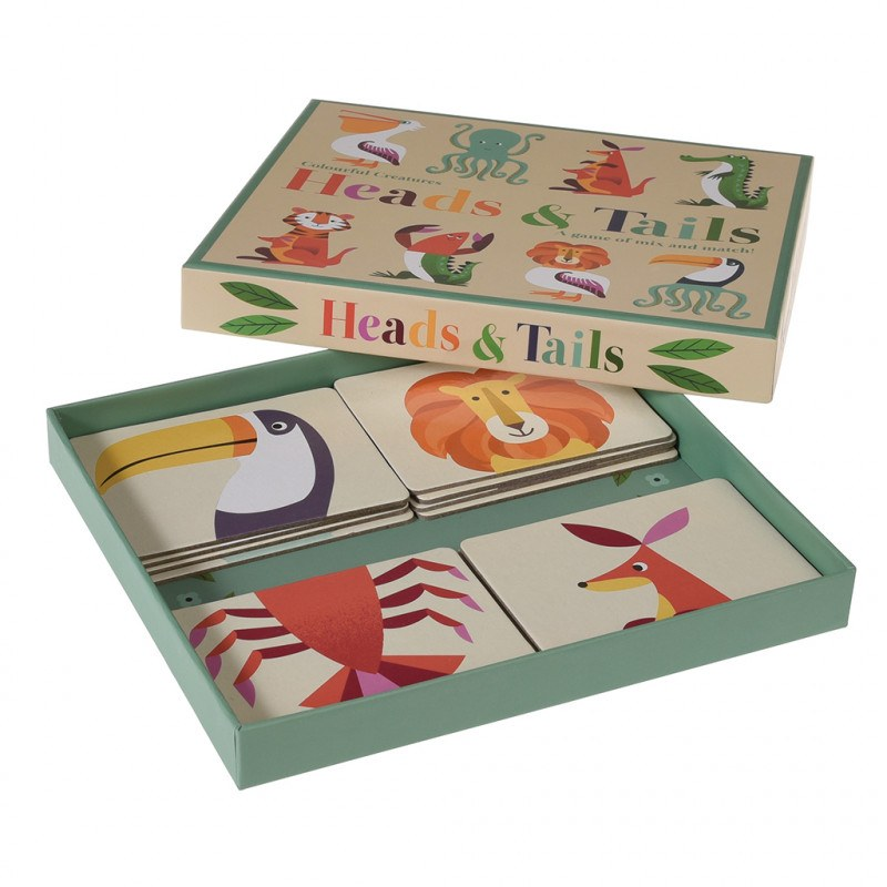Colourful Creatures Heads And Tails Game. - Meli & Ro | Kids Activity Packs