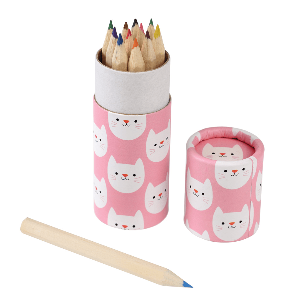 Cookie The Cat Colouring Pencils - Meli & Ro | Kids Activity Packs