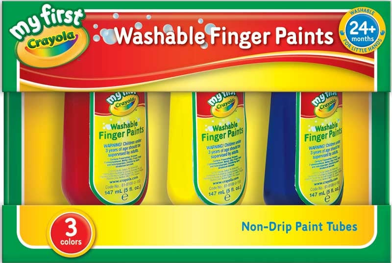 Crayola 3 Washable Finger Paints - Meli & Ro | Kids Activity Packs