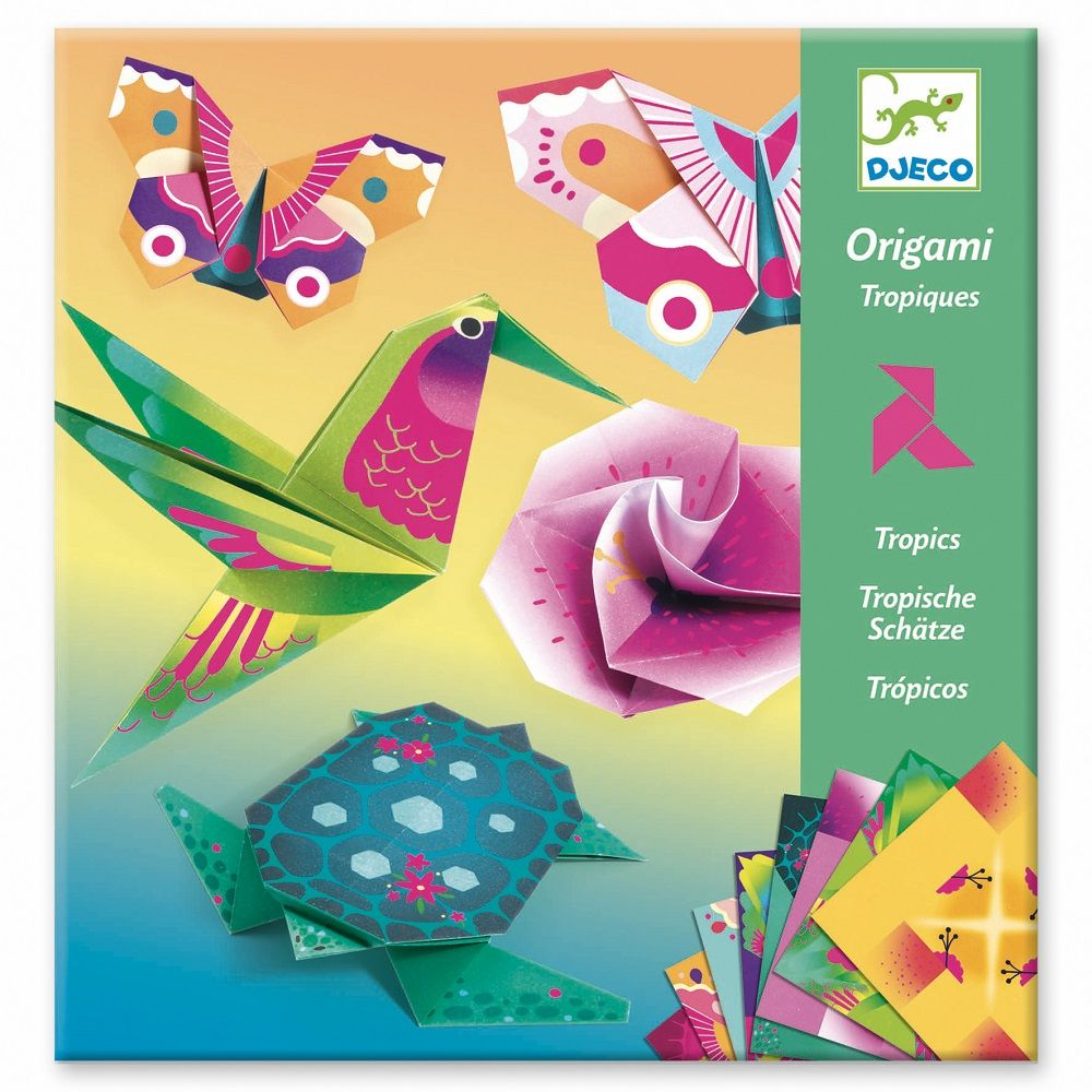 Djeco Origami - Tropics - Meli & Ro | Kids Activity Packs