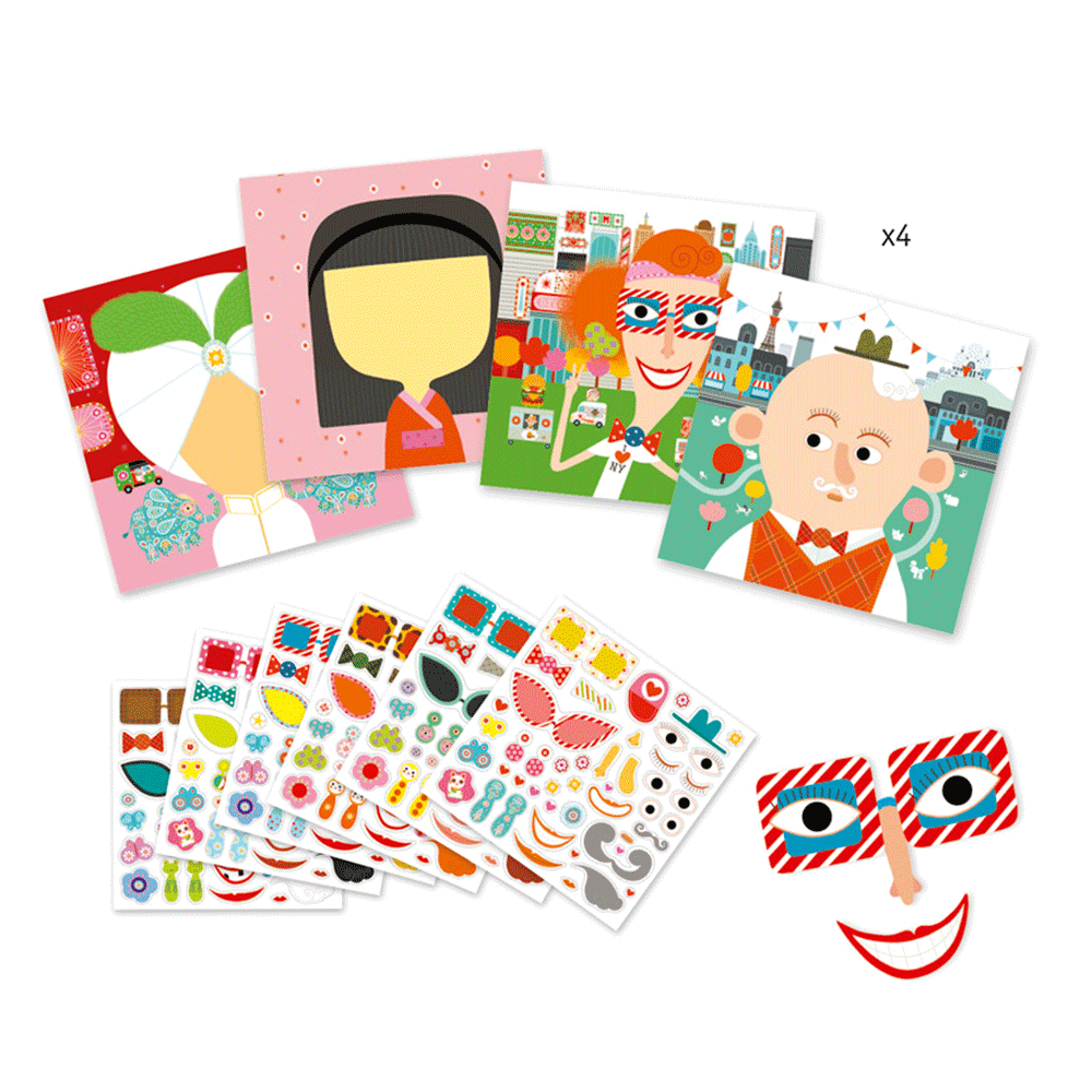 Djeco Stickers - All Different - Meli & Ro | Kids Activity Packs