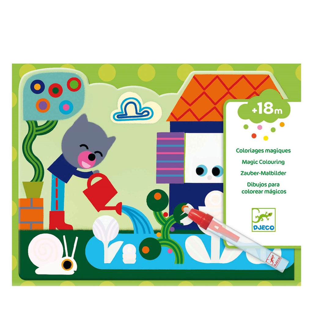 Djeco Water Colouring - Into The Garden - Meli & Ro | Kids Activity Packs