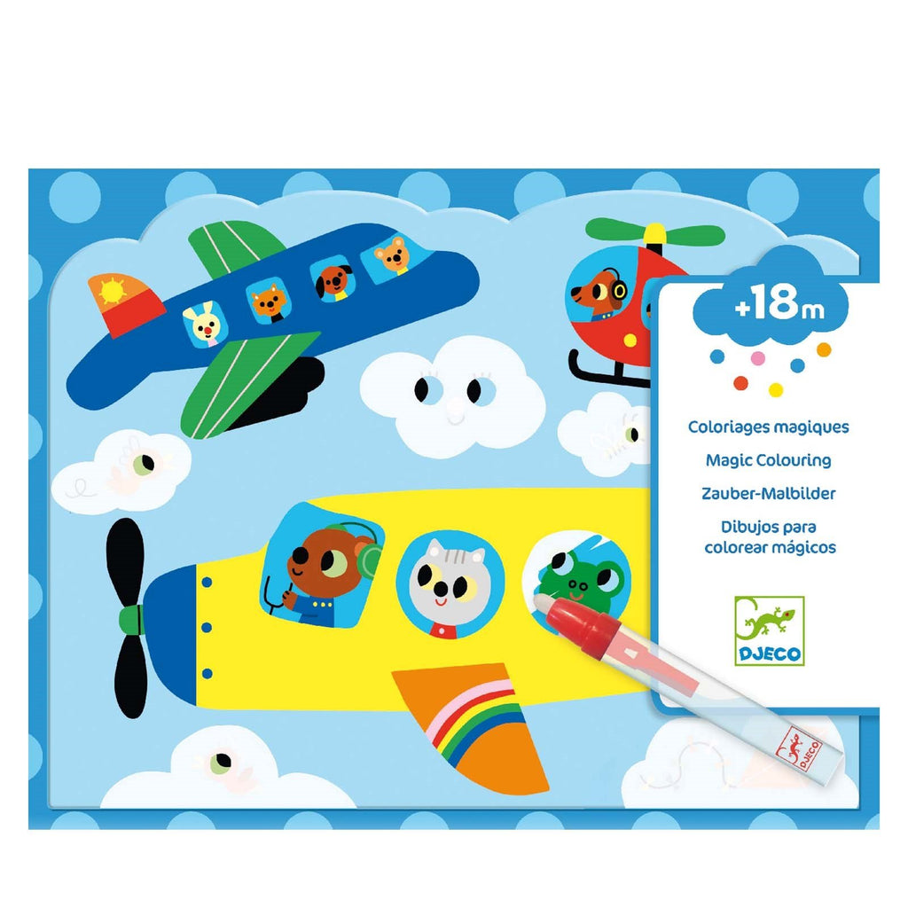 Djeco Water Colouring - Into The Sky - Meli & Ro | Kids Activity Packs